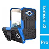 Noise Samsung Galaxy J2 - 6 / Pro (New 2016 Edition) Hybrid Case - Dual layer Protection TPU+PC with inbuilt Kickstand|| Shockproof Protective Back Cover for Samsung Galaxy J2 - 6 / Pro (New 2016 Edition) [Blue Hybrid Case]