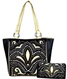 Montana West Concealed Carry, Fleur-de-lis Rhinestone Studded Tote - Best Reviews Guide