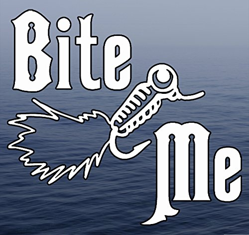 Fresh Decal (Bite ME - Fly Fishing Sport Fresh Water Background Full Color Window Decal Sticker)