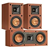 Klipsch R-14M Reference Monitor Speakers with R-25C Reference Center Speaker (Cherry)