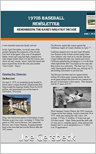 Mike Schmidt Stats - 1970s Baseball Newsletter - April 2019