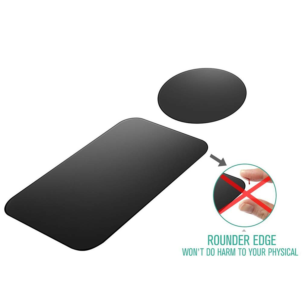 Mount Metal Plate Black OUTUNG 4351557886 12 Pack Universal Metal Plate with 3M Adhesive for Magnetic Phone Car Mount Holder Cradle 6 Rectangle and 6 Round