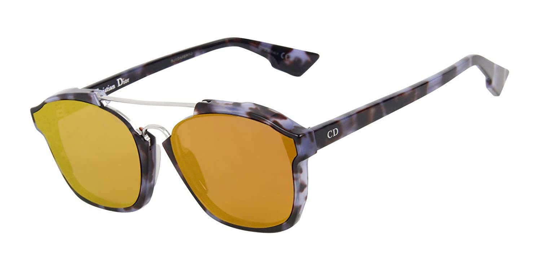 e34a7bd2c5c Amazon.com  New Christian Dior ABSTRACT YHO A1 Havana mauve orange mirror  Sunglasses  Clothing