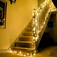 Uping 200 LED String Lights | 66 ft with 8 Modes Starry Lights | DC 31V Low Voltage Transformer Suitable for Indoor, Outdoor, Party, Garden, Christmas | warm white
