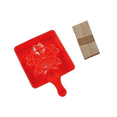 BESTONZON DIY Helado Molde de Silicona de Sakura Molde de Chocolate con Barra de Helado 5