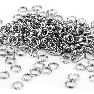 FACILLA 250X anillas de llavero de acero inoxidable conector ...