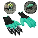 Latex Builders Garden Genie Gloves With Plastic Claws For Digging Planting Gardening Work Glove Household Greenhouse Products