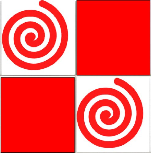 20 X Swirls Tile Transfer Decal Stickers Kitchen Or Bathroom Red Vinyl Makeover
