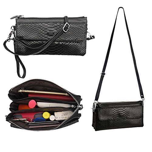 Crossbody Purse Cell Phone Purse – Shalwinn Genuine Leather Crossbody Purse Cell Phone Purse Crossbody Handbag Purse for Women Teen Girls with Adjusta…