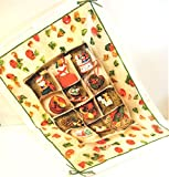 Le Telerie Toscane Italy Cotton Printed Kitchen Tea Towel Vintage Christmas Ornaments