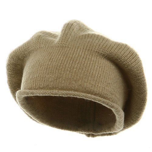 New Rasta Beanie Hat - Khaki (For Big Head)