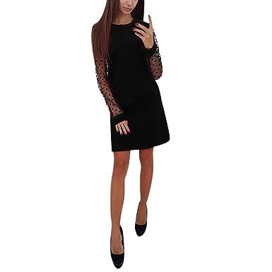 d1f4f260b1 Vestiti Donna Eleganti Ragazza Invernali di Moda in Pizzo Giuntura ...
