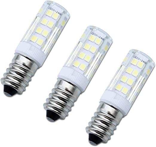 SPTwj 3 bombillas LED E14 no regulables de 4 W equivalentes a bombilla halógena de 35 W, luz blanca fría de 380 lúmenes, 6000 K, ideal para campana de cocina [clase energética A++]: Amazon.es: Iluminación