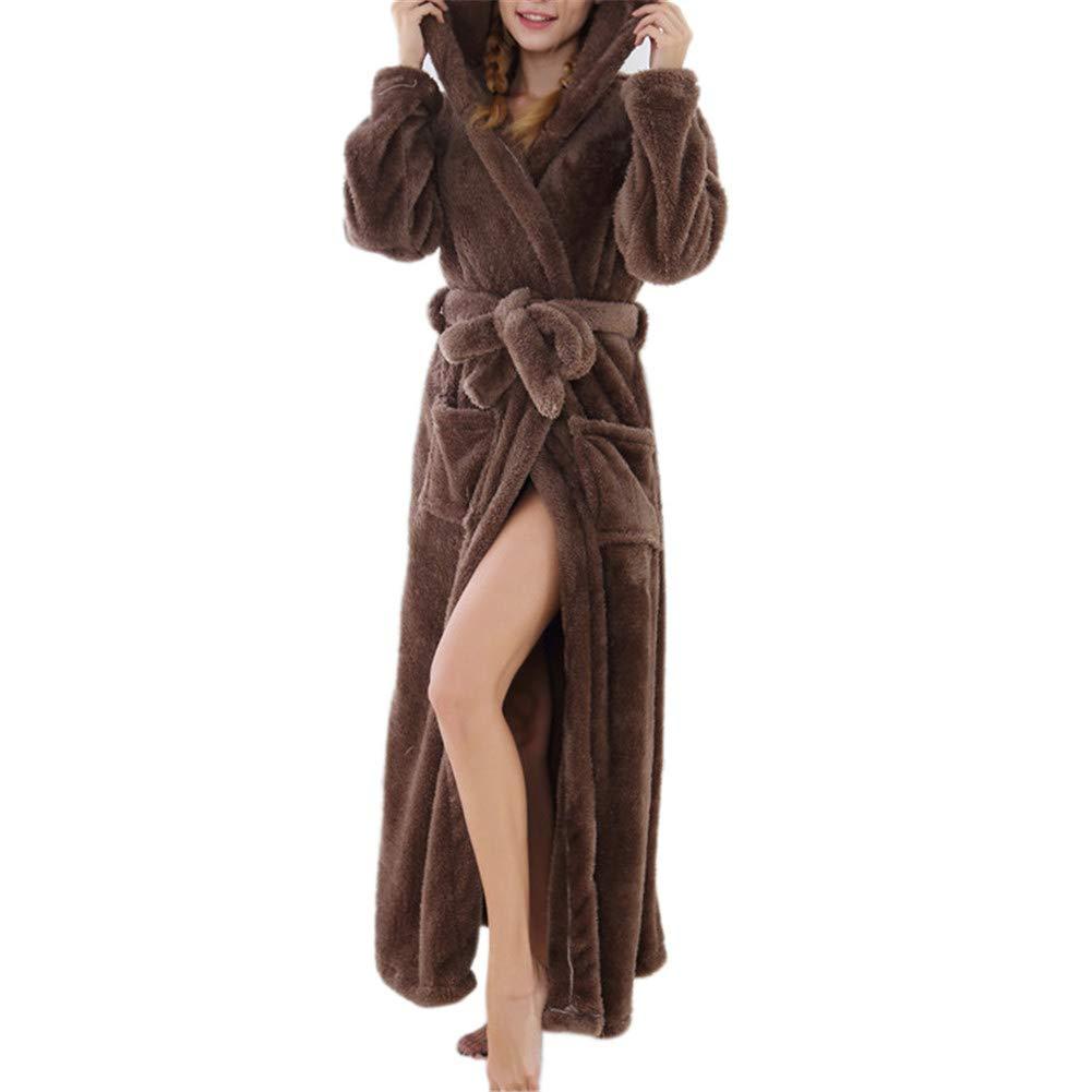 1  Drasawee Women's Soft Flannel Pajama Fleece Bathrobe Winter Loungewears