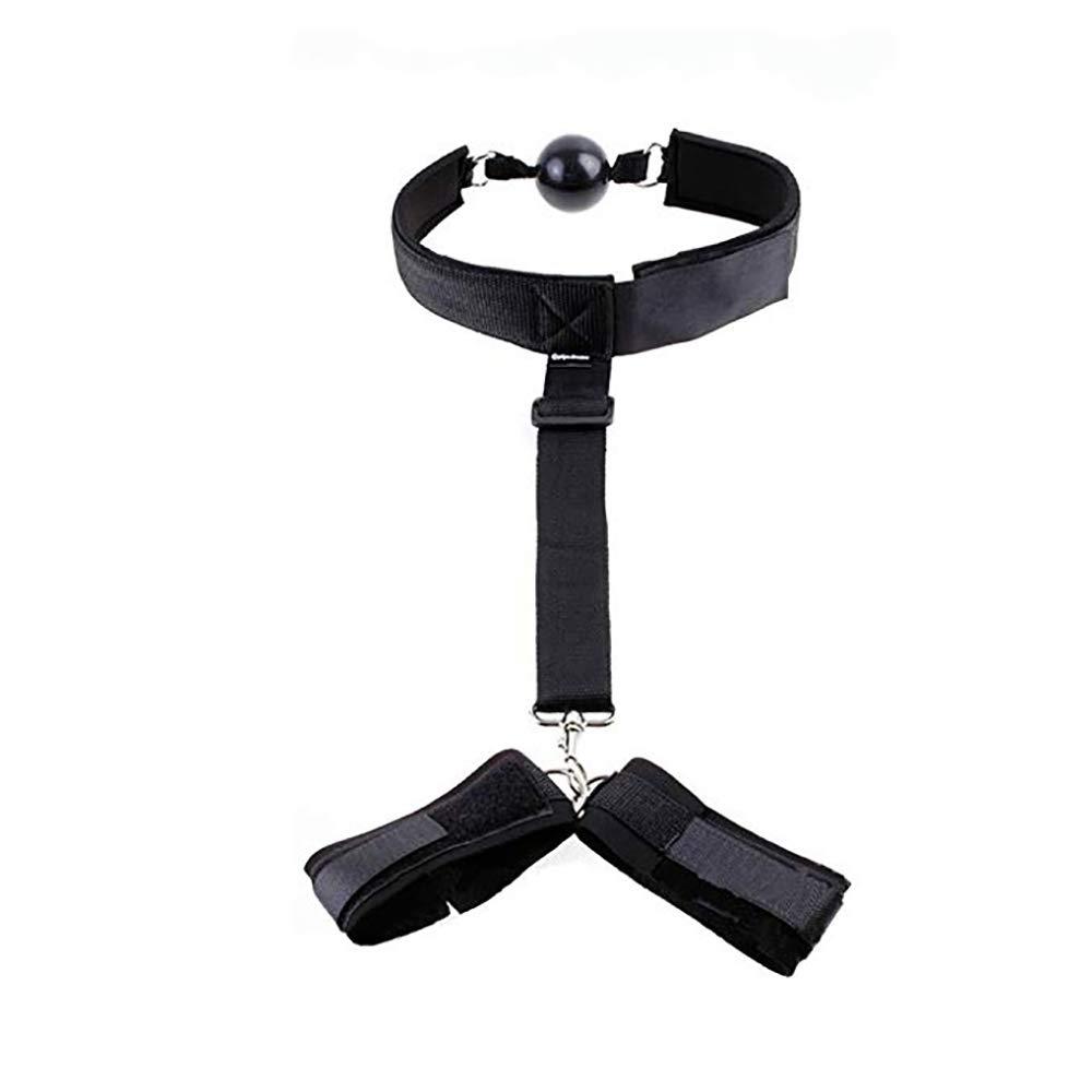 Bondagewear Restricción, Women Mouth Ball Neck Cuello Para De Control De Postura Para Cuello Parejas Jugar (Negro). de0b22