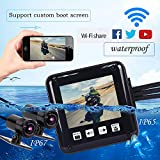 Motorcycle Camera,P6F, Waterproof,150°Super Wide-Angle Lens,Front and Rear Camera Both FHD 1080P, WiFi Support,Moto Dual Sport Camera, Sony IMX323 Chip,2.0 Inch Screen by MOTOCAM PRO