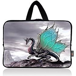 AUPET Cool Dragon Universal 7 ~ 8 inch Tablet Portable Neoprene Zipper Carrying Sleeve Case Bag