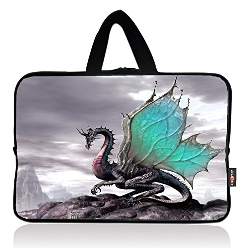 AUPET Cool Dragon Universal 7~8 inch Tablet Portable Neoprene Zipper Carrying Sleeve Case Bag ()