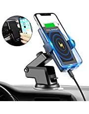 Fast Wireless Car Charger with Automatic Clamping Dashboard/Air Vent Phone Holder Mount, Qi Certified,10W/7.5W/5W Compatible iPhone XR/XS Max/XS/X/8/8 Plus Galaxy S9/S9+/S8/S8+/LG G7