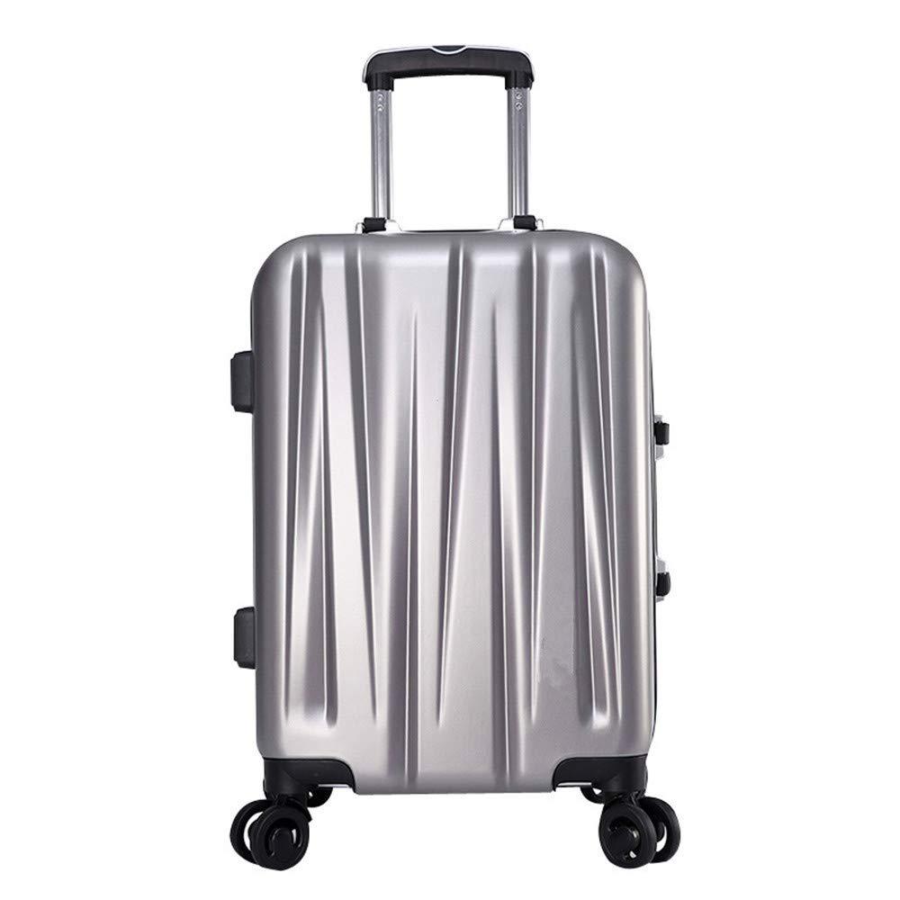 サイレントスーツケース ビジネストラベルボックスユニバーサルホイールプルロッドボックス男性と女性20、24インチ旅行飛行機の飛行と搭乗 (サイズ : 24) B07V7T2XCF  24