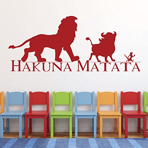 Hakuna Matata Wall Decal - Vinyl, Lion King Decor, Simba, Pumba and Timon, Good Friends, Lion King Nursery Theme, Playroom Decor, and Boys Bedroom Ideas