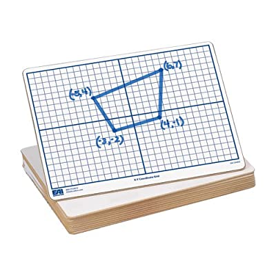 "EAI Education X-Y Coordinate Grid Dry-Erase Boards: 9""x12"" Double-Sided Set of 10: Toys & Games"