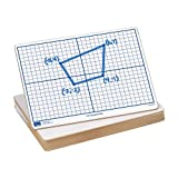 EAI Education X-Y Coordinate Grid Dry-Erase Boards: 9''x12'' Double-Sided Set of 10