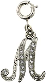 """product image for 1928 Jewelry Silver-Tone Crystal """"Initial"""" Charm"""