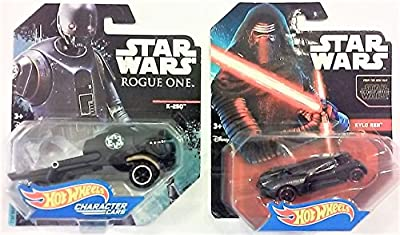 2 (TWO) Hot Wheels Character vehicles. The Force Awakens Kylo Ren Character Car & Rogue One K-2SO Character Car