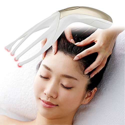 Oshide Electric Head Massager Scalp Massager Spa Therapy Healing Finger Gripper Claw Electronic Vibration Scalp Massage Tool (Batteries not Included)