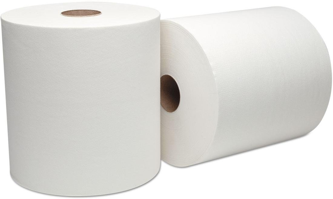Boardwalk Green Xtra Roll Towels, 1-Ply, 8'' x 800 ft, White, Pallet