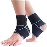 VIPMOON Ankle Brace, 2 Pack Adjustable Ankle Support Breathable Nylon Elastic One Size Fits All Comfortable Ankle Wrap…