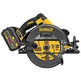 "DEWALT DCS575T1 FLEXVOLT 60V MAX Lithium-Ion Brushless 7 1/4"" Circular Saw w/Brake Kit (includes Fast Charger)"