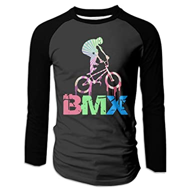 4a98b7a26 BFS&33 Retro BMX Men's Athletic O Neck Long Sleeve T-Shirt Contrast Raglan  Top