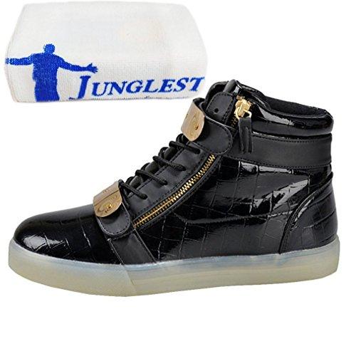 (Present:kleines Handtuch)JUNGLEST Damen Hohe Sneaker Weiß USB Aufladen LED Leuchtend Fasching Partyschuhe Sportsc c43