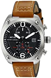 AVI-8 Men's AV-4037-01 Hawker Harrier II Analog Display Japanese Quartz Brown Watch