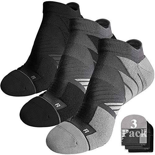 No Show Running Athletic Anti-Blister Wicking Coolmax Socks, Seamless Anti-odor