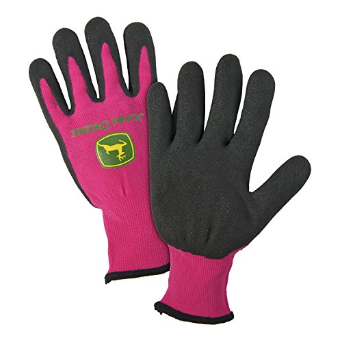 Price comparison product image John Deere JD00021 Latex Grip Coated Gloves, Women's, Pink (Pack of 1 Pair)