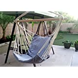 Airblasters Hanging Rope Chair - Swing Hanging Hammock Chair - Porch Swing Seat(Blue)