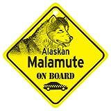 KC Creations Alaskan Malamute On Board Dog Sign Gift