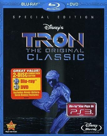 258f62e7fdde Amazon.com  Tron  The Original Classic (Two-Disc Blu-ray DVD Combo ...