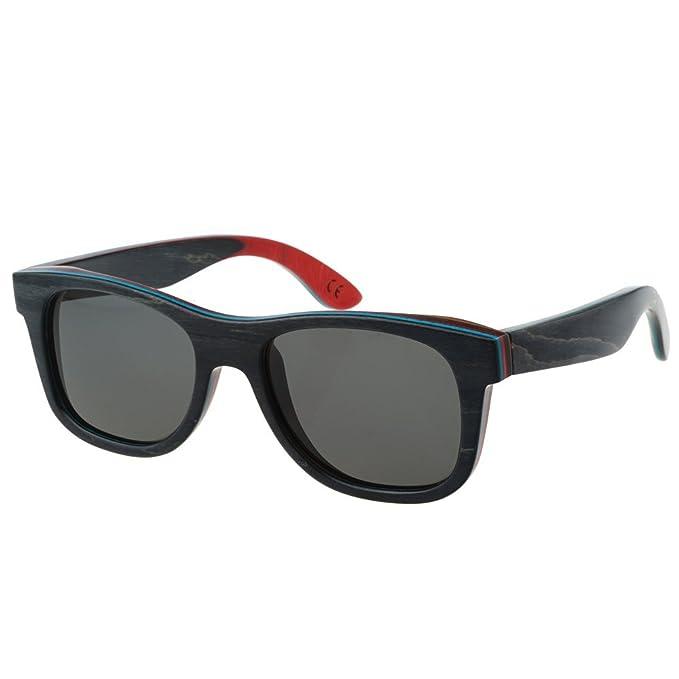 Amazon.com: motelan polarizado Madera anteojos de sol ...