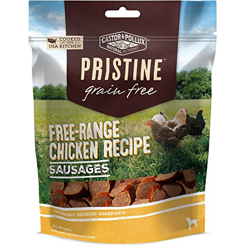 Castor & Pollux Pristine Free-Range Chicken Recipe Sausages Dog Treat, 5 oz -