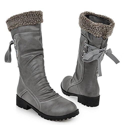 COOLCEPT Botas Calientes de Invierno para Mujer Gray-H