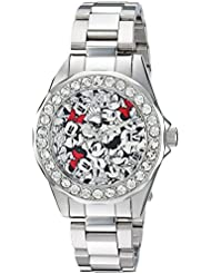 Invicta Womens Disney Limited Edition Quartz Stainless Steel Casual Watch, Color:Silver-Toned (Model: 22872)