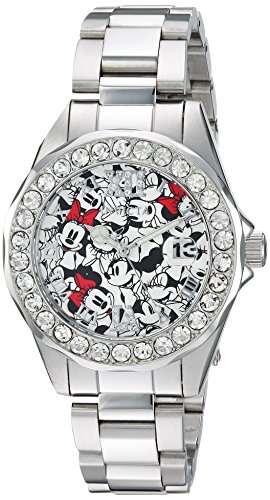 Invicta Women's 'Disney Limited Edition' Quartz Stainless Steel Casual Watch, Color:Silver-Toned (Model: 22872)