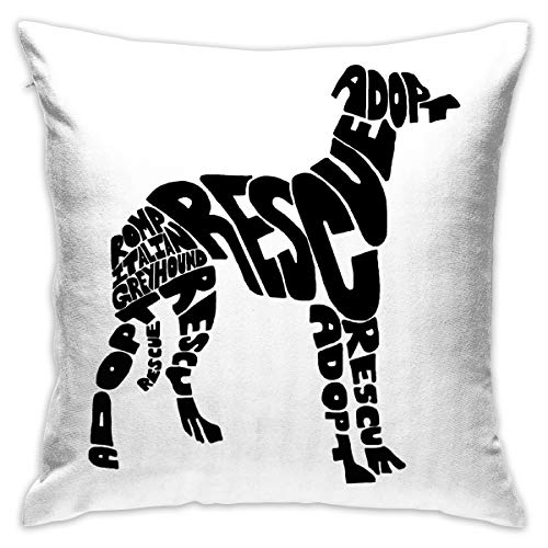 18x18 Inches Square Throw Pillow Covers Romp Italian Greyhound Rescue Pillow Cushion Cases for Couch Sofa Bed