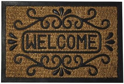 MAURER 5291045 Felpudo Fibra Coco y Goma Welcome 40x60 cm, 40 x 60 cm