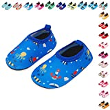 Lauwodun Baby Boys Girls Water Shoes Barefoot Aqua Sock Shoes for Beach Pool Surfing Yoga Swimming Walking-color21-2122