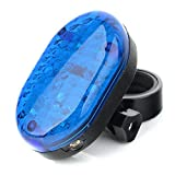 2017 Cycling Bicycle Super Bright Blue 8 LED+2 Laser Rear Tail Light Bike Lamp